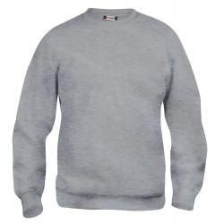 Sweat-shirt mixte Clique Basic Roundneck 95Gris Chiné