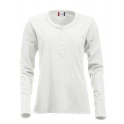 Tee-shirt ML femme Clique Orlando Ladies 07Craie