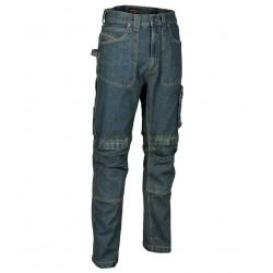 Pantalon de travail jean hiver avec poches genoux Cofra