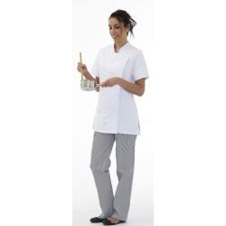 Veste de cuisine femme manches courtes polycoton Julia
