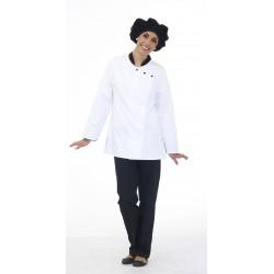 Veste de cuisine femme manches longues polycoton Julienne