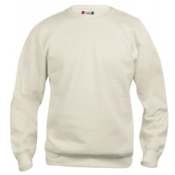 Sweat-shirt mixte Clique Basic Roundneck 81Beige Clair