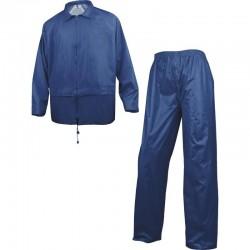Ensemble de pluie polyester enduit PVC bleu marine