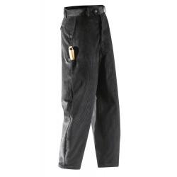 Pantalon de travail velours noir 1/2 ballon