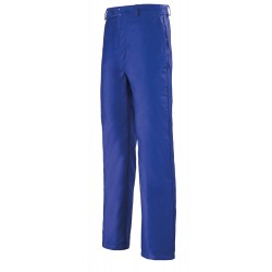 Pantalon moleskine droit bleu