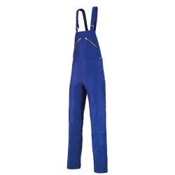 Cotte à bretelles moleskine bleu