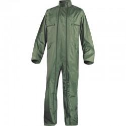 Combinaison de pluie double zip verte