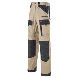 Pantalon de travail Lafont Rigger 250gr Beige - Noir