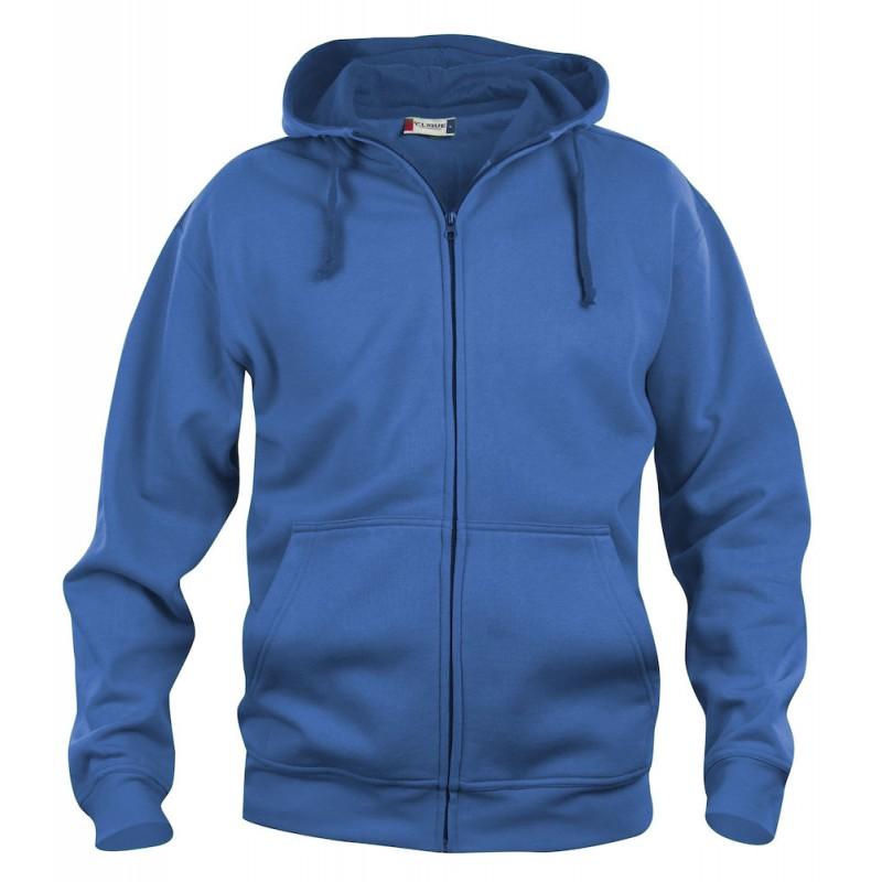 sweat shirt homme basic hoody full zip provet. Black Bedroom Furniture Sets. Home Design Ideas