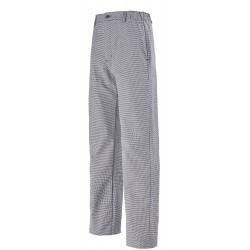 Pantalon pied de poule mixte 100% coton