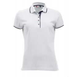 Polo MC femme Clique Seattle Ladies 00Blanc